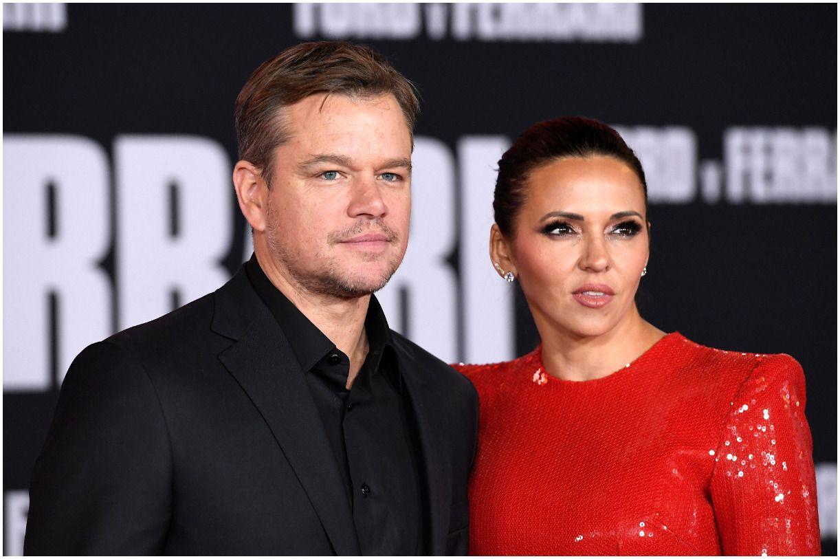Matt Damon and his wife Luciana Barosso