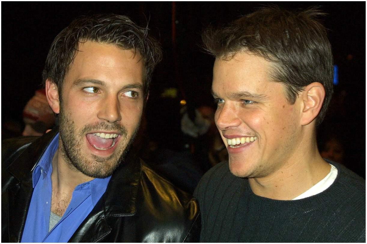 Matt Damon with his best friend Ben Affleck