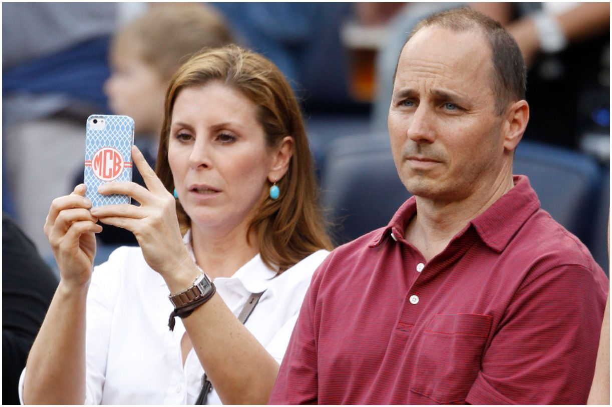Brian Cashman with his wife Mary Cashman
