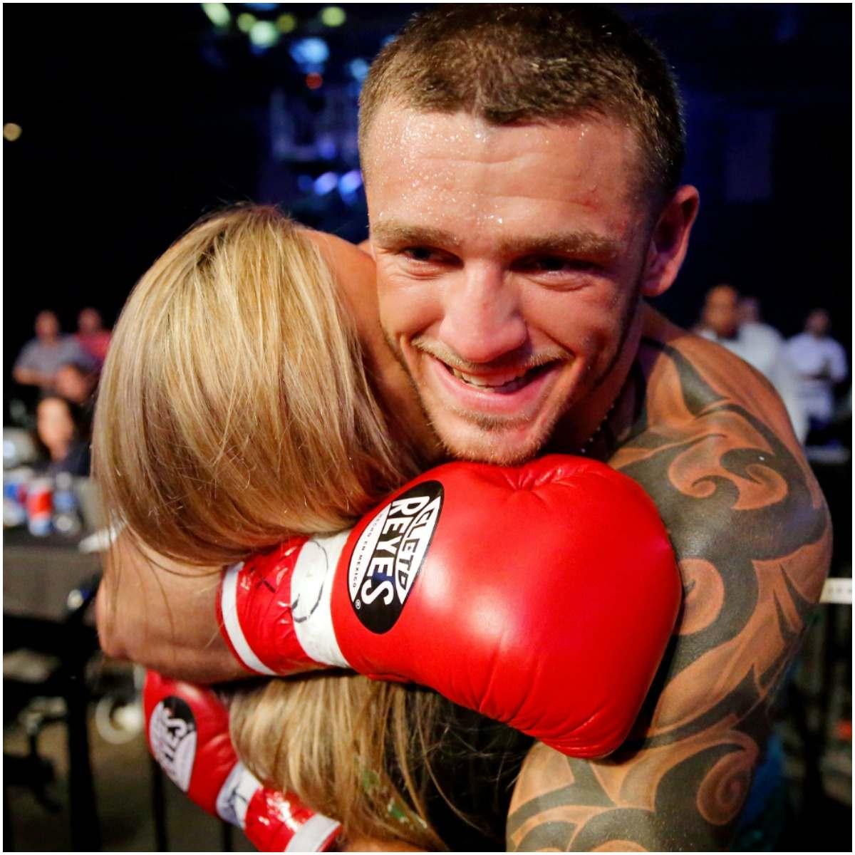 Joe Smith Jr. with his girlfriend Kelly Reilly