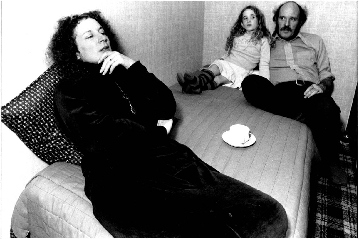 Margaret Atwood with her daughter and partner Graeme Gibson
