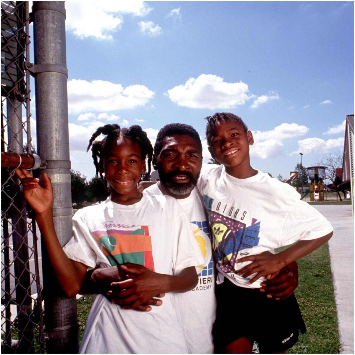 Richard Williams and his daughters Venus and Serena Williams