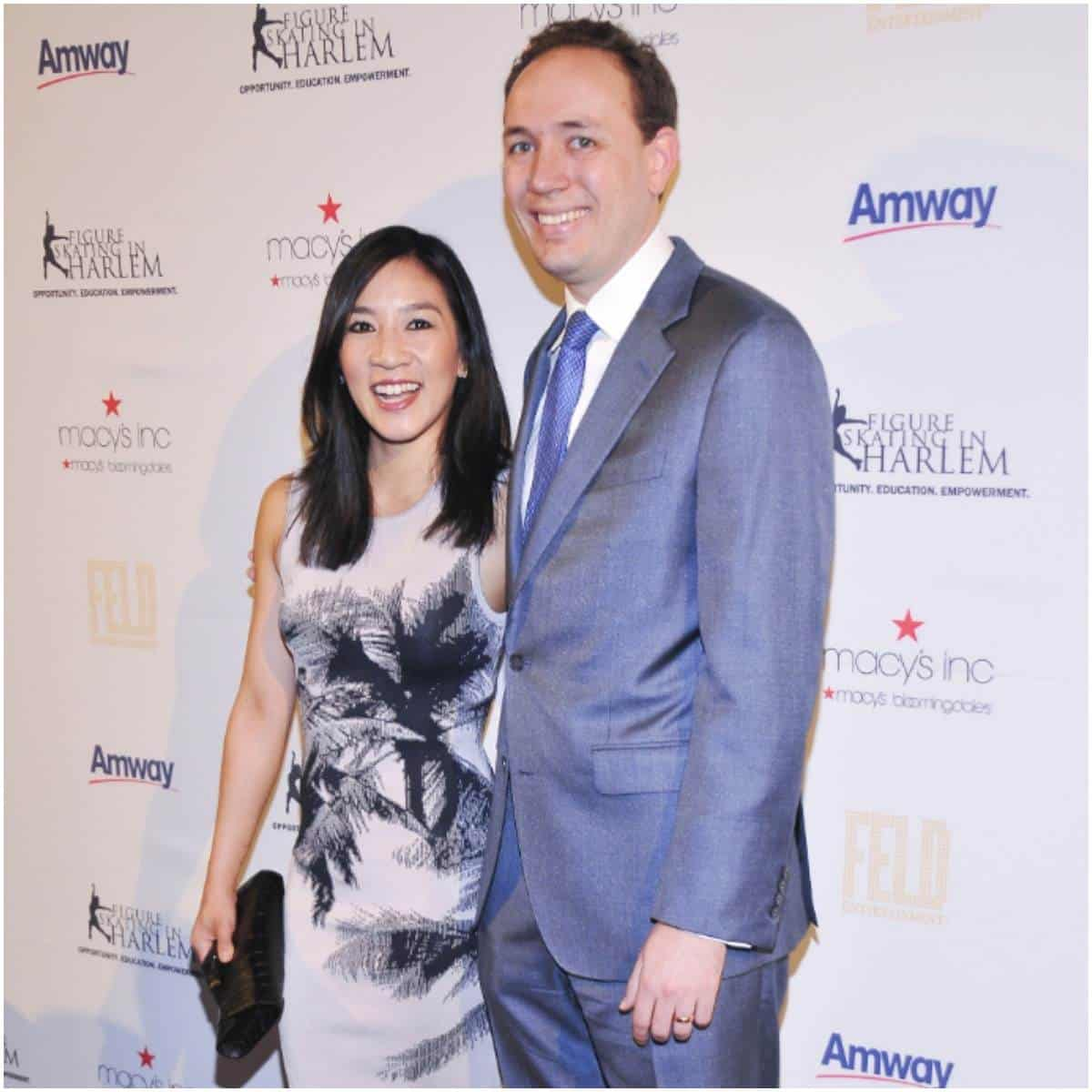 Michelle Kwan and her husband Clay Pell