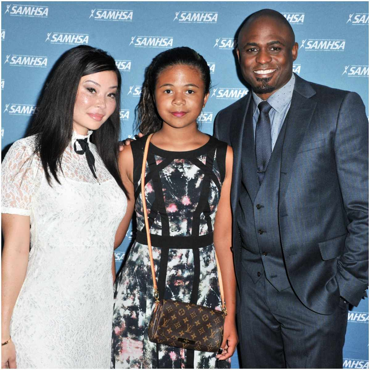 Wayne Brady with his ex-wife and daughter
