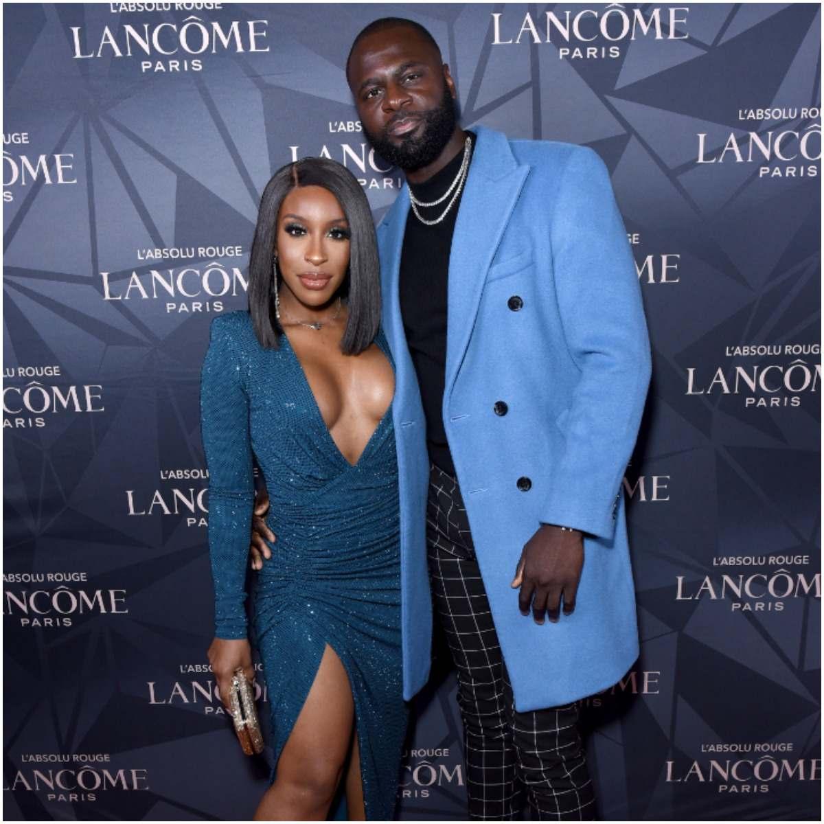 Jackie Aina with her fiancé Denis Asamoah