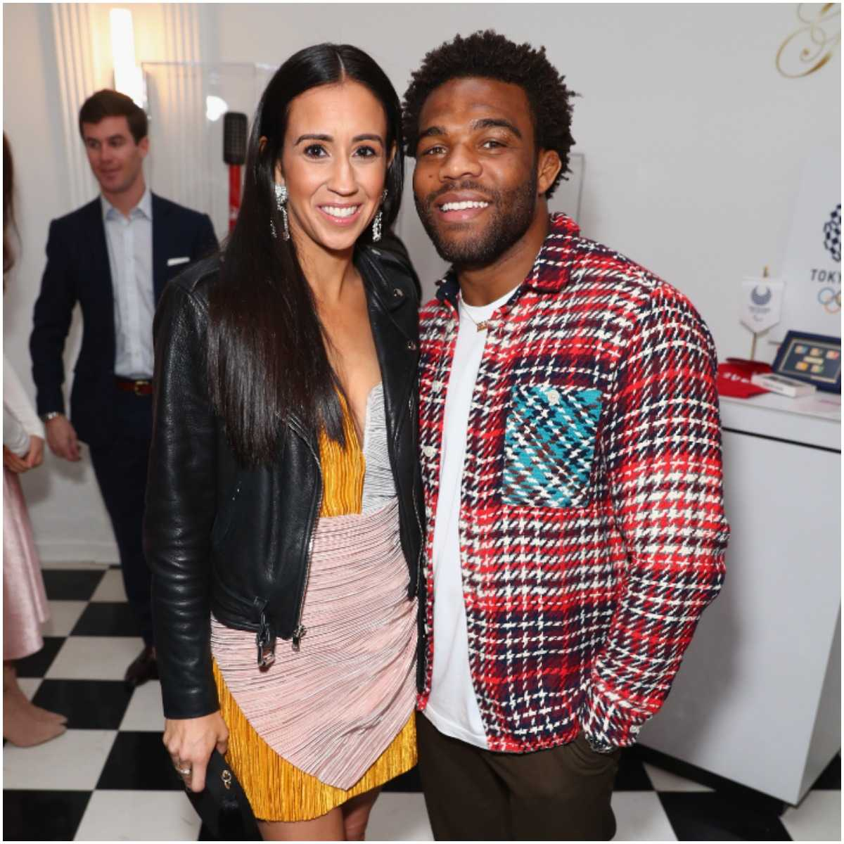 Jordan Burroughs and his wife Lauren Mariacher