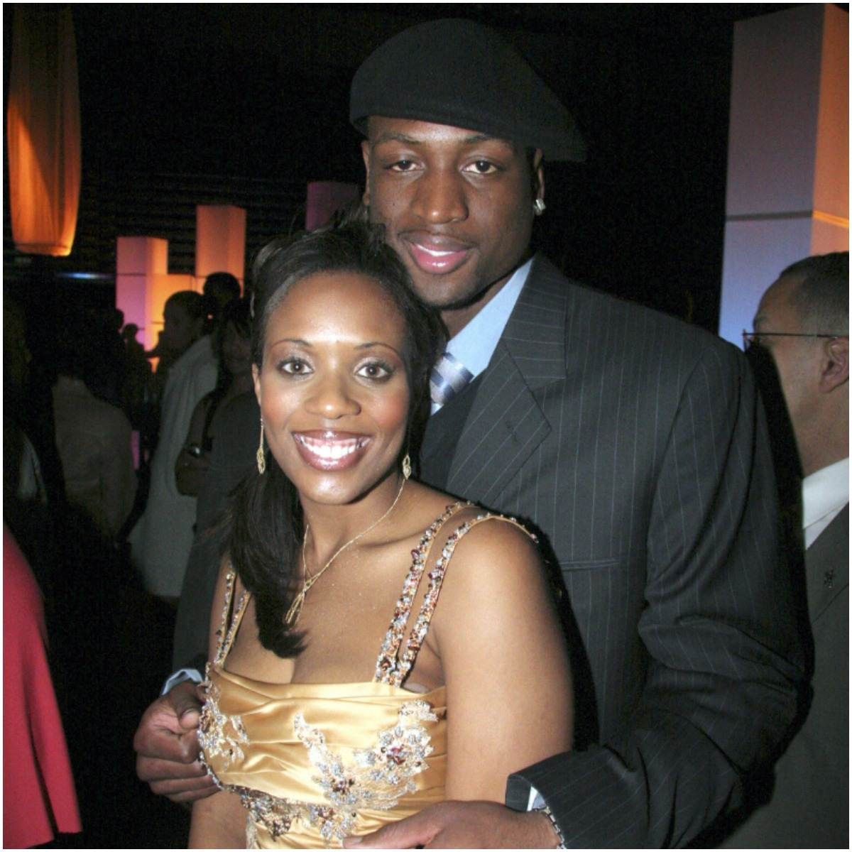 Siohvaughn Funches and her husband Dwyane Wade