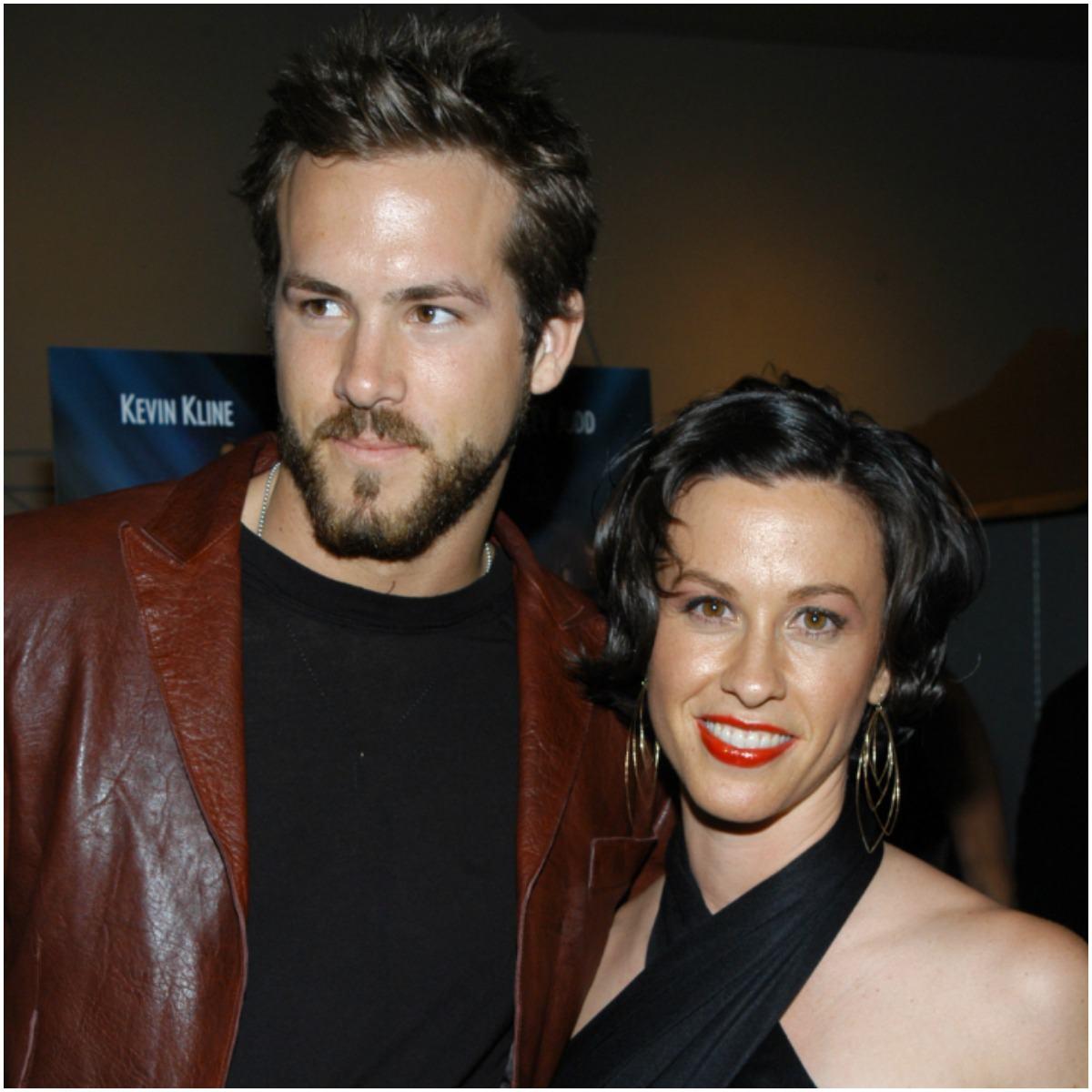 Alanis Morissette and her fiance Ryan Reynolds