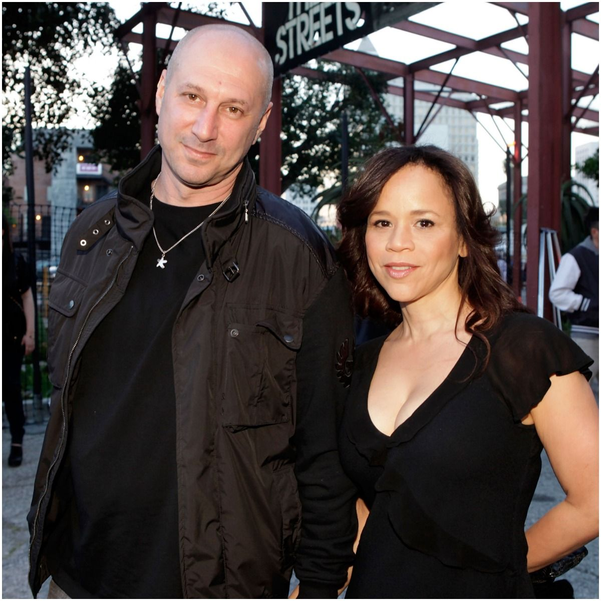 Rosie Perez and her husband Eric Hayes