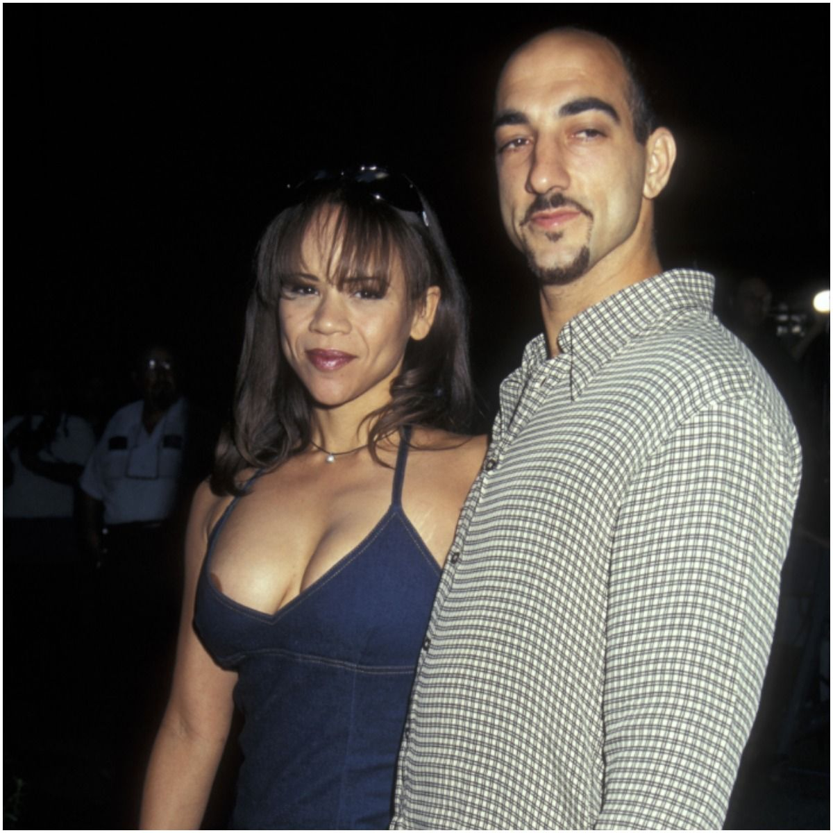 Rosie Perez with her husband Seth Zvi Rosenfeld