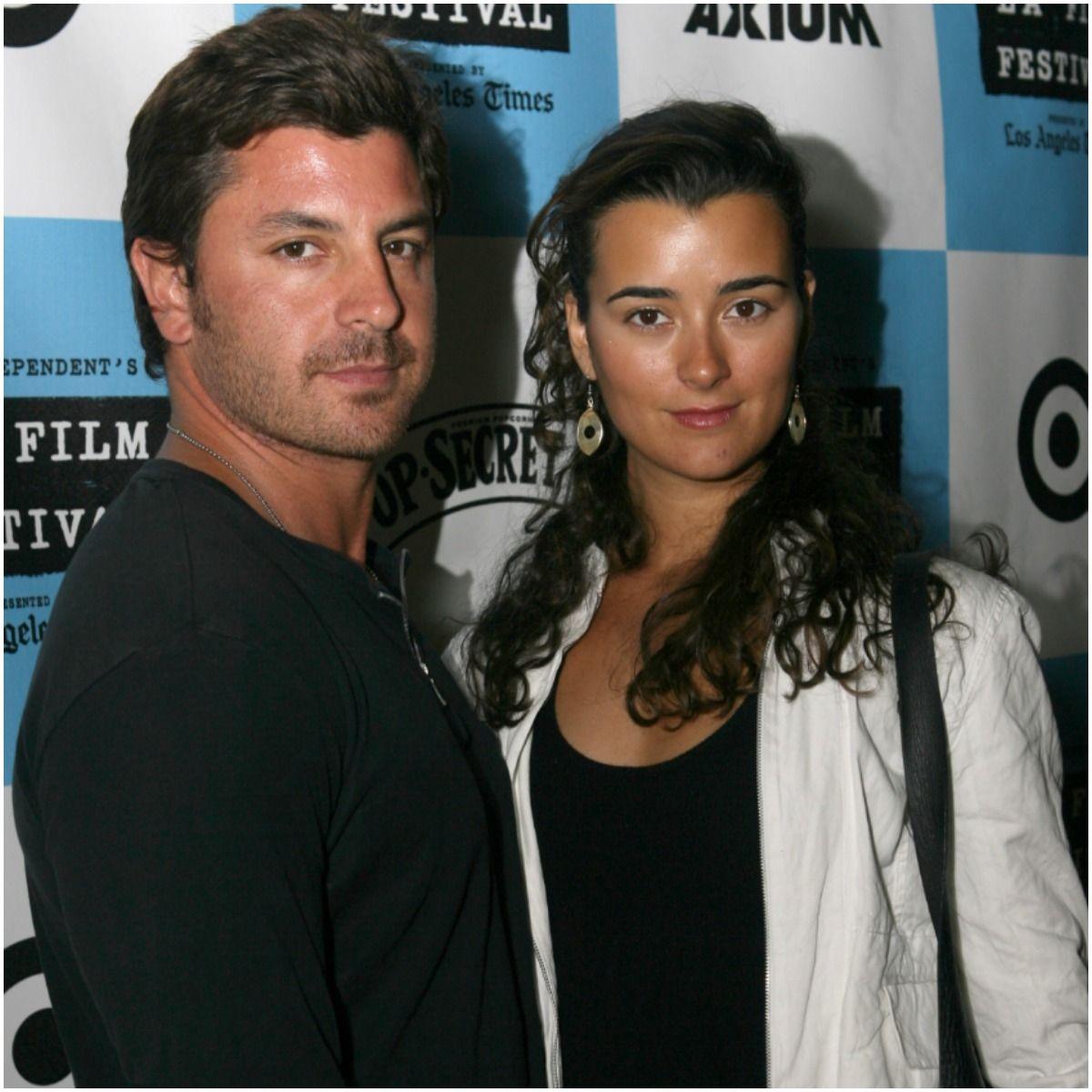 Cote de Pablo and her boyfriend Diego Serrano