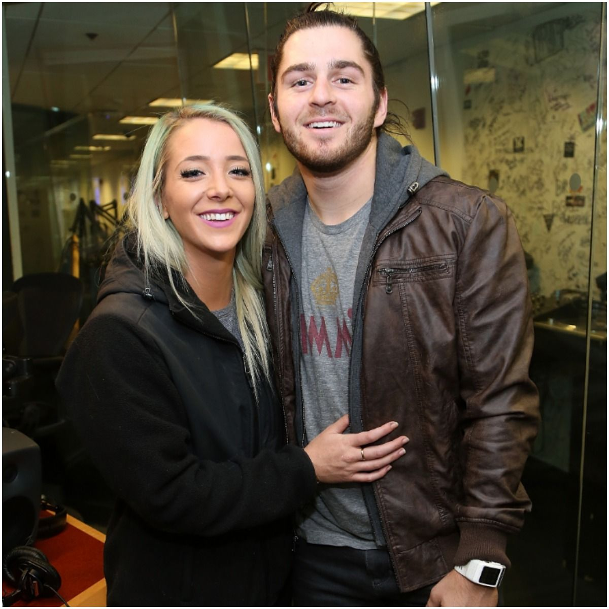 Jenna Marbles and her boyfriend