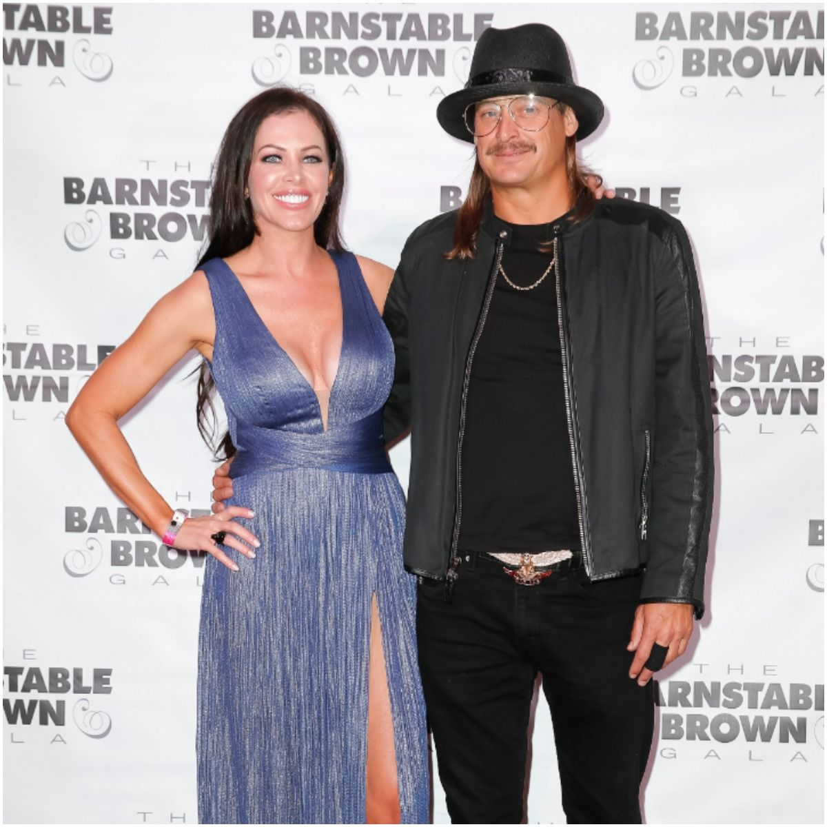 Kid Rock with his fiancée Audrey Berry