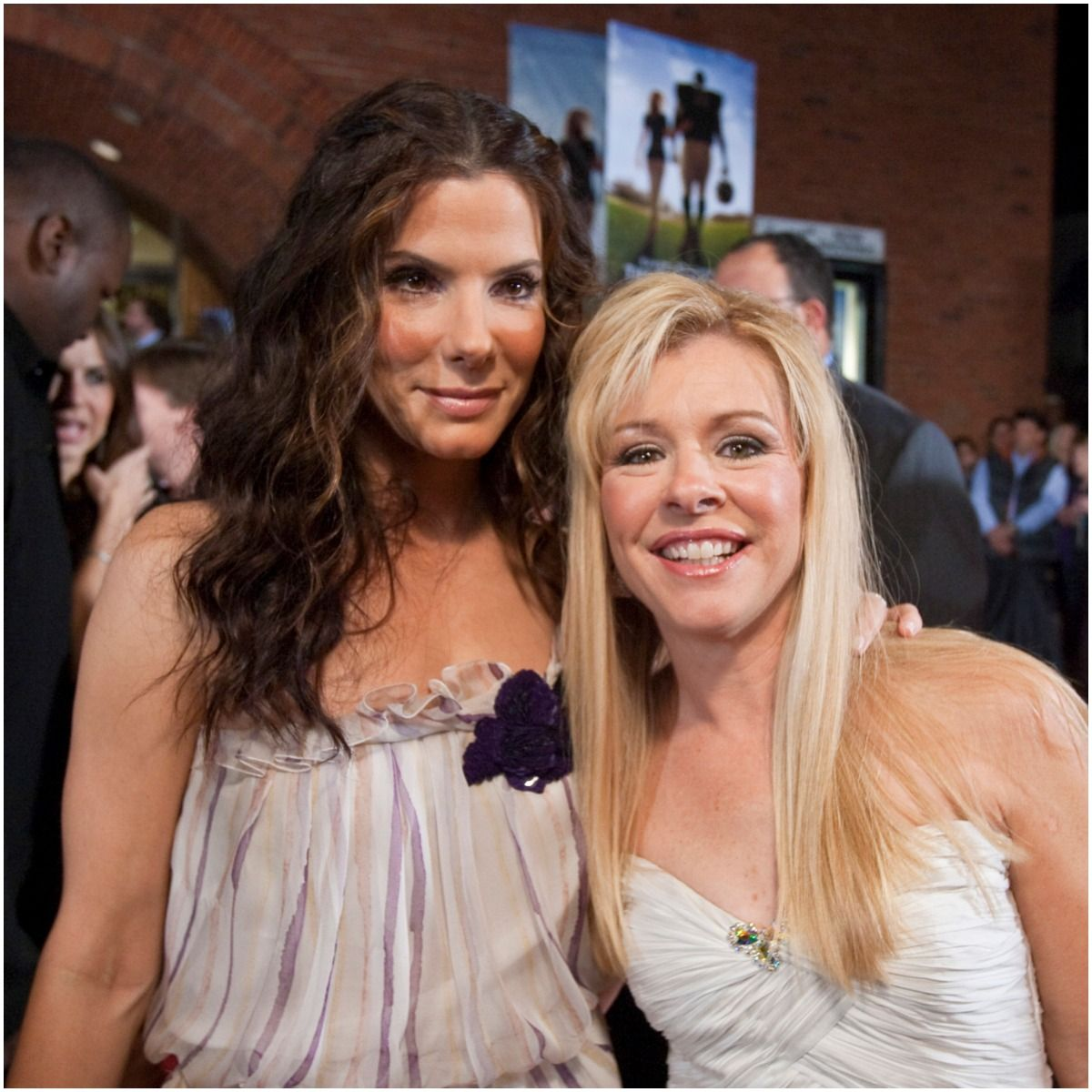 Leigh Anne Tuohy adoptive mother of American professional football player Michael Oher with Sandra Bullock