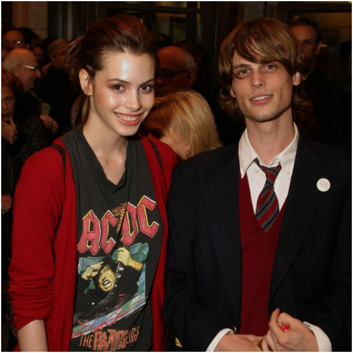 Matthew Gray Gubler with girlfriend Charlotte Kemp Muhl