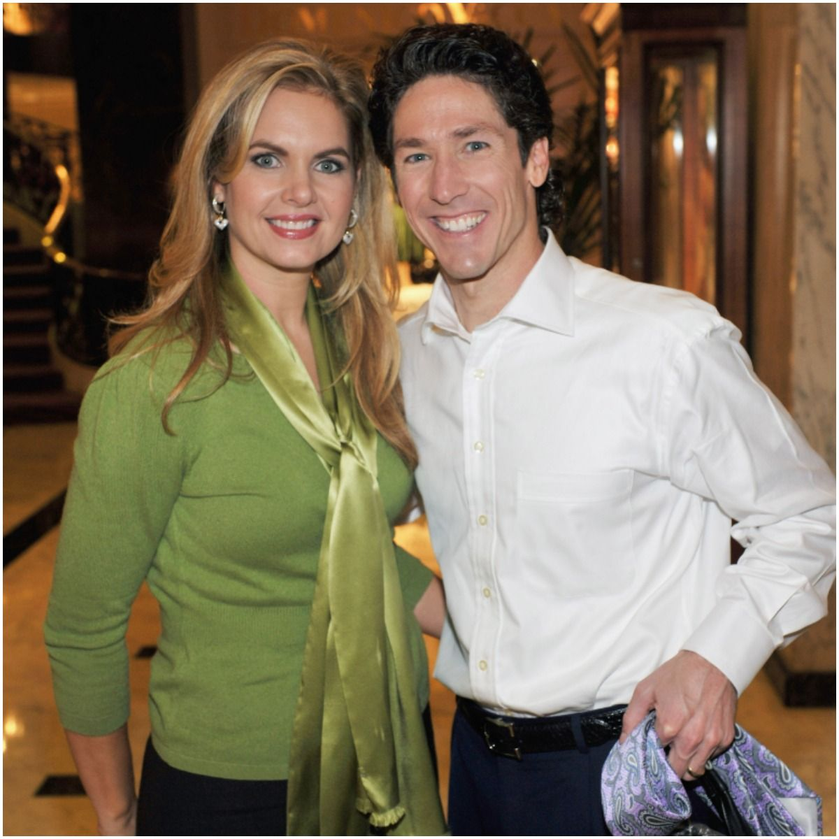 Victoria Osteen with her husband Joel Osteen