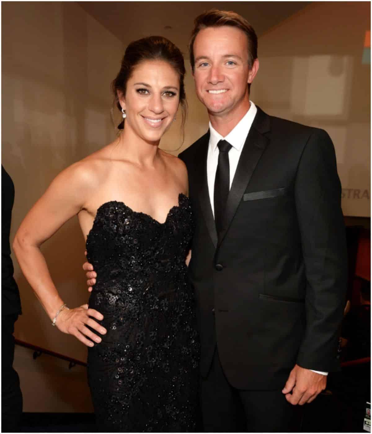 Carli Lloyd with husband Brian Hollins
