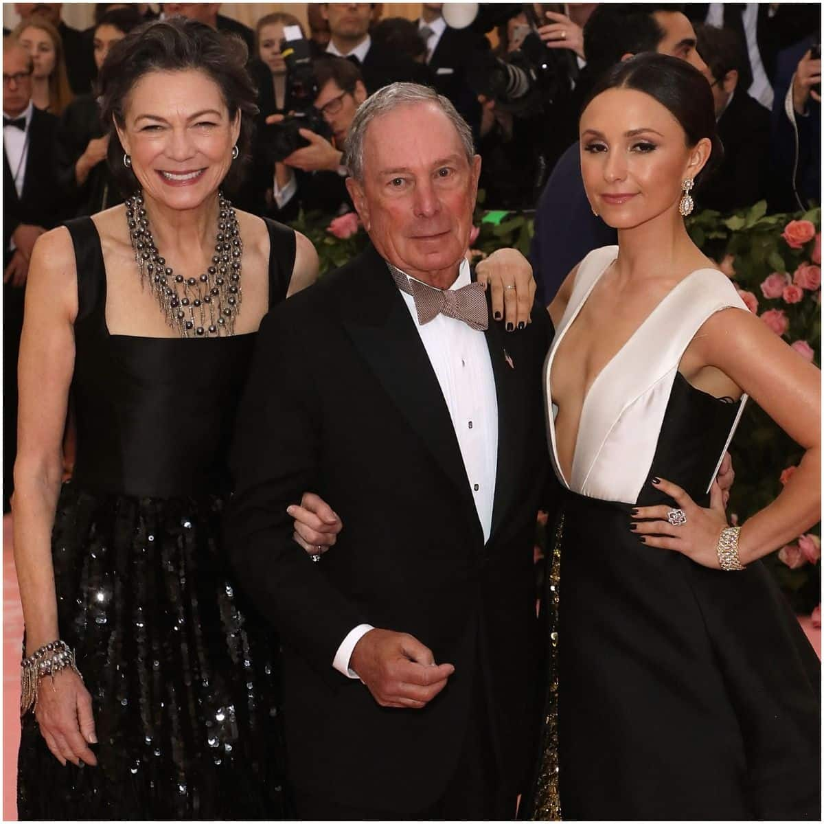 Diana Taylor with Mike Bloomberg and his daughter Georgina Bloomberg
