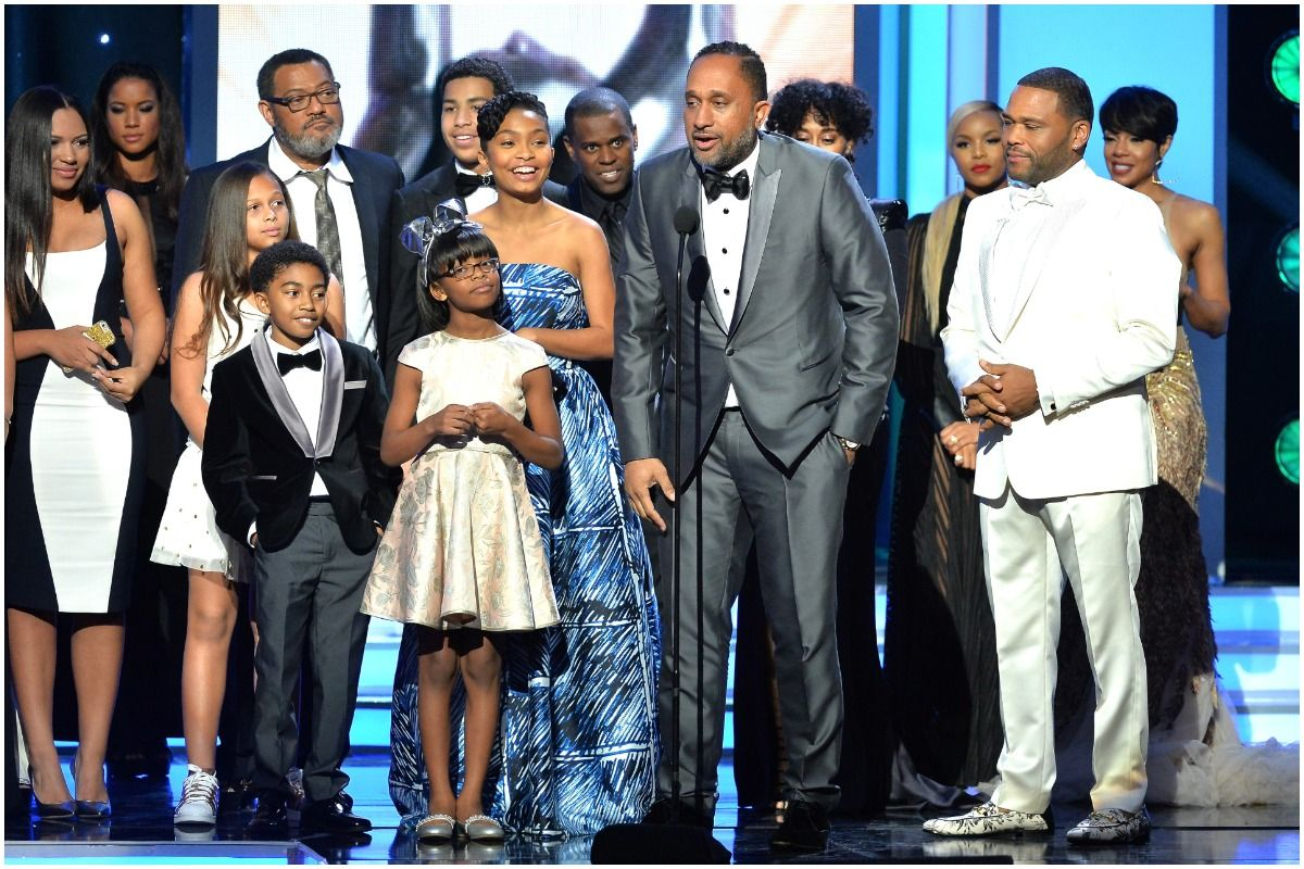 Kenya Barris and the cast of Black-ish