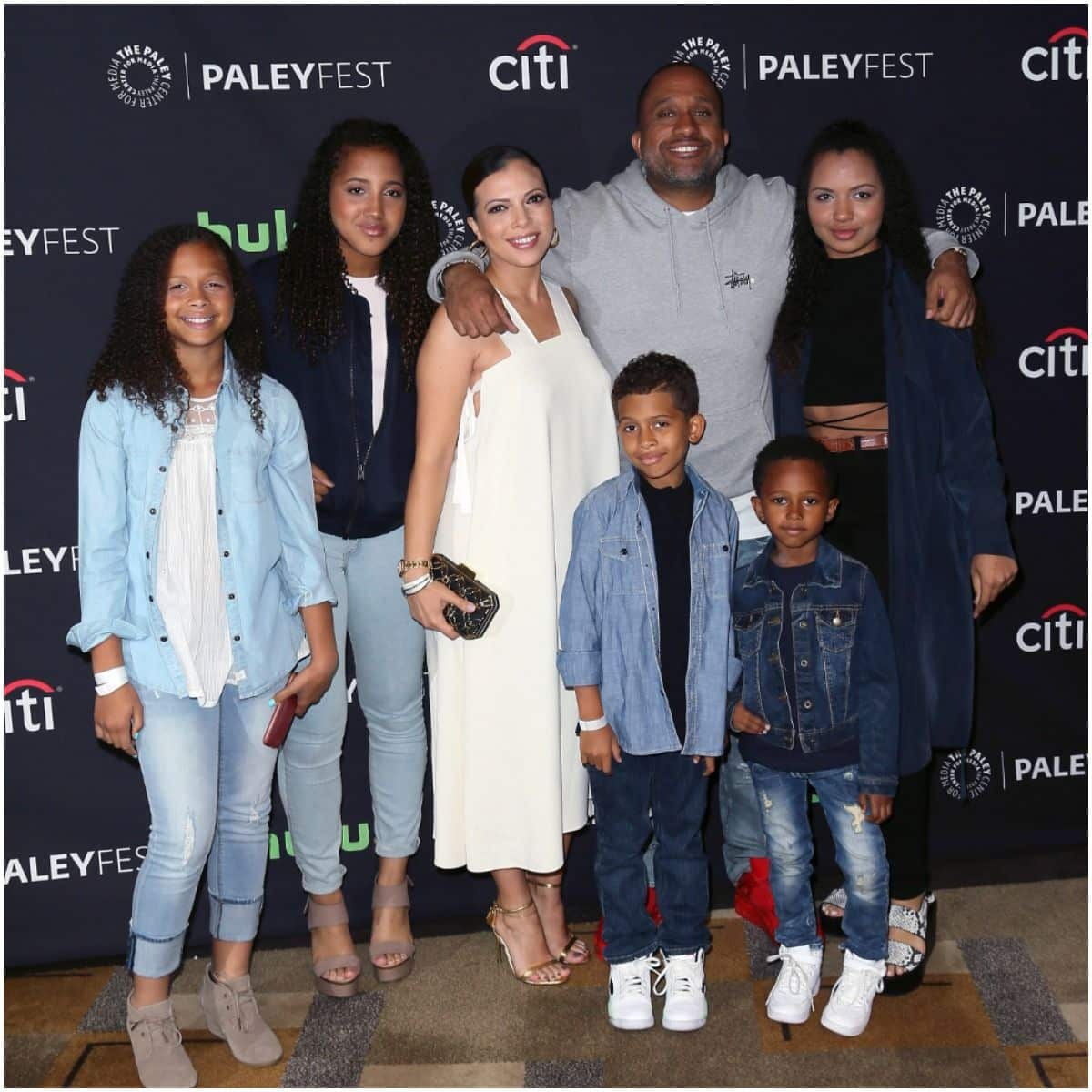 Kenya Barris with his kids and wife
