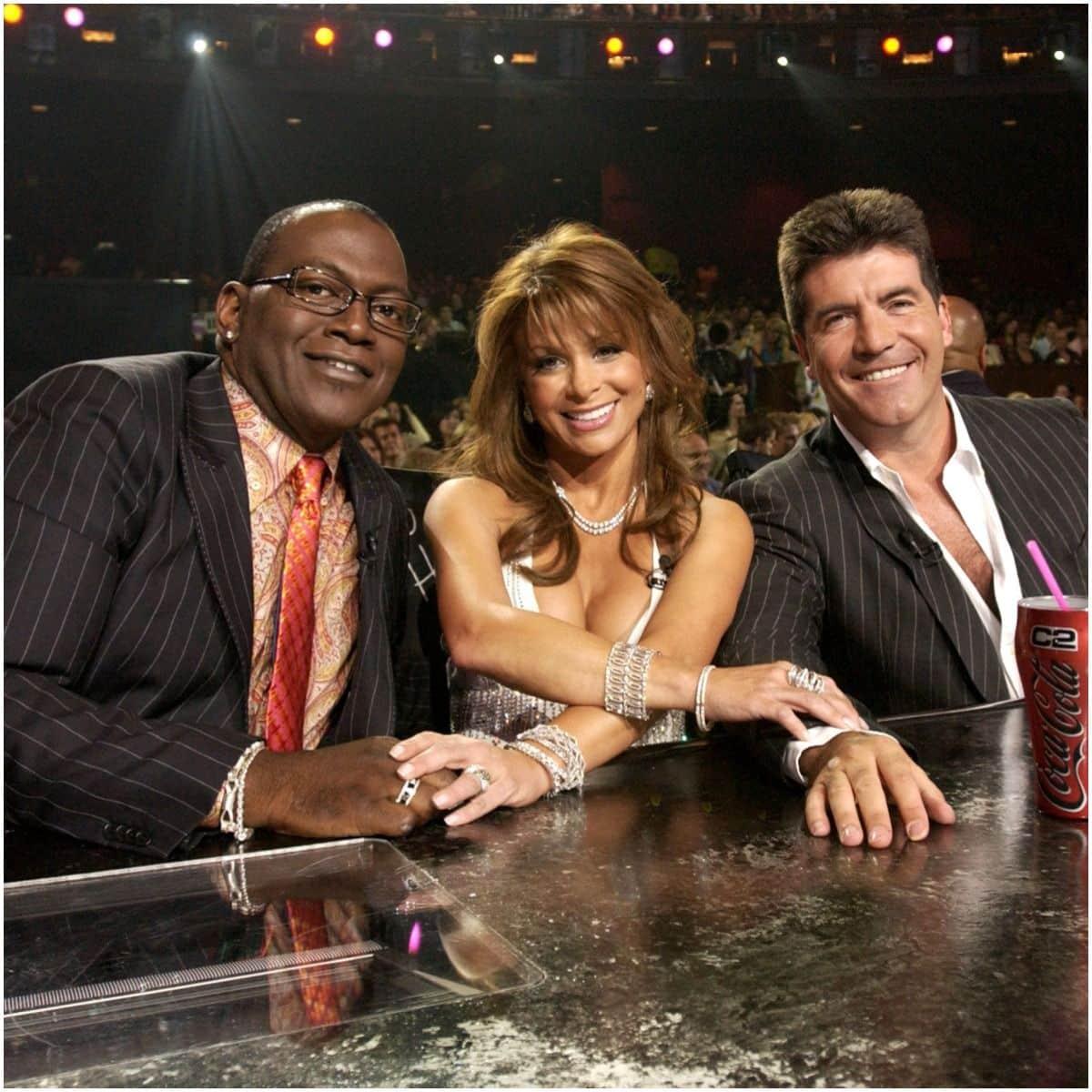 Paula Abdul with American Idol judges
