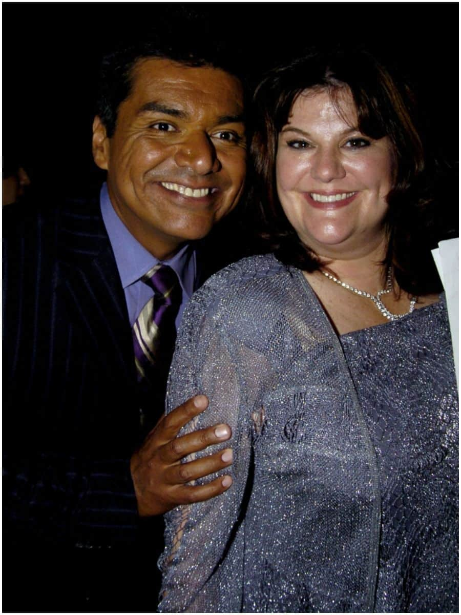 George Lopez with his wife Ann Serrano Lopez