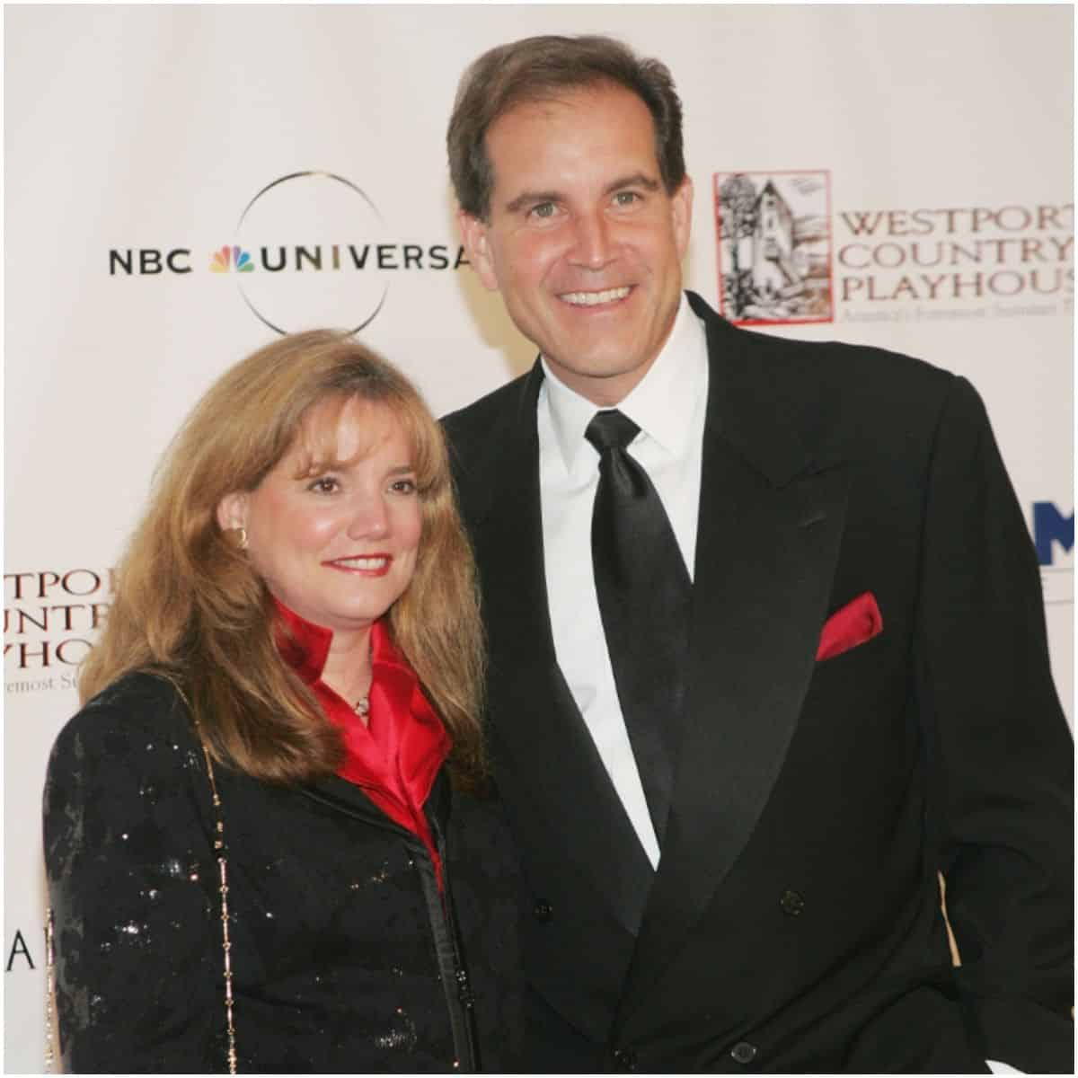 "Jim Nantz with ex-wife Lorraine ""Lorrie"" Carlsen Nantz"