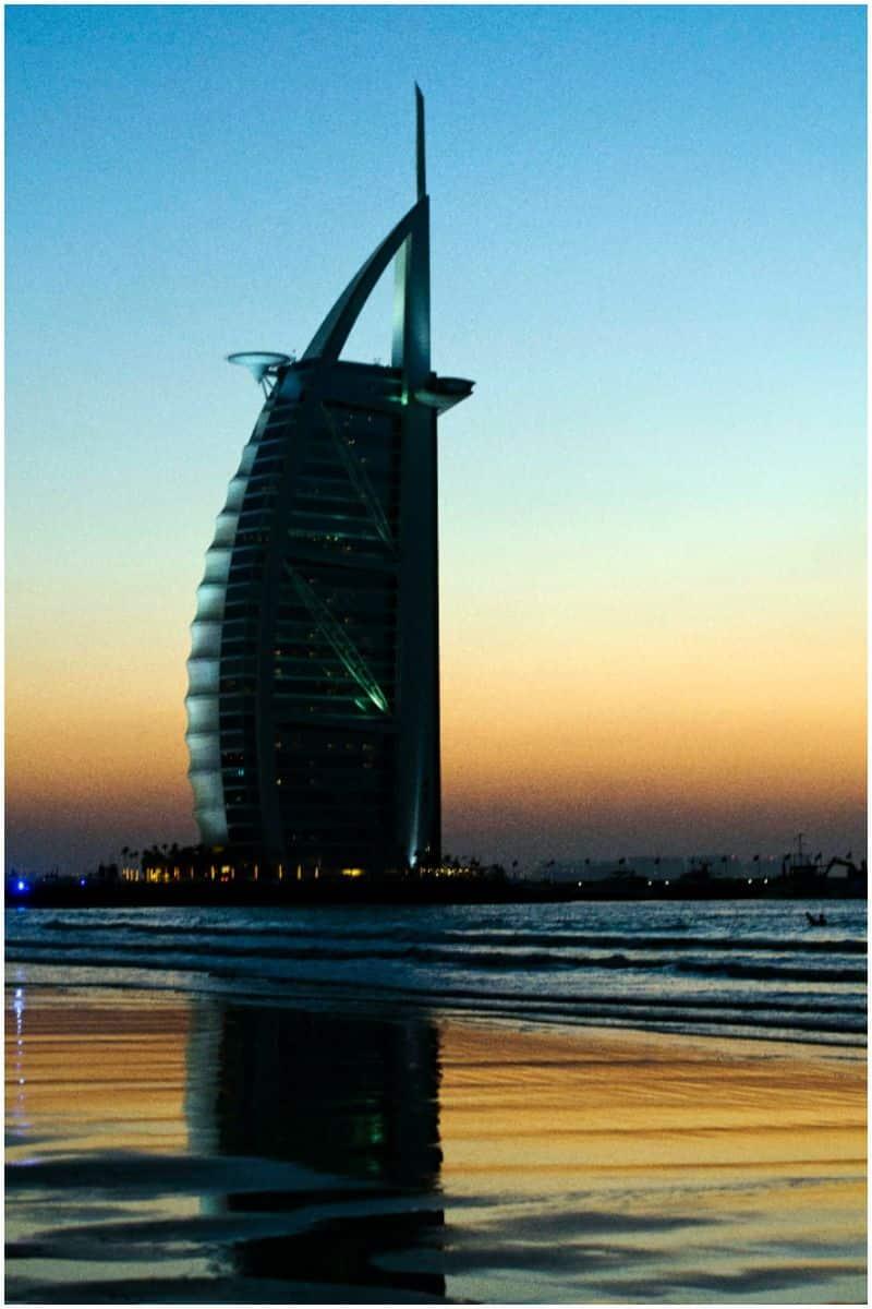 Burj Al Arab in Dubai design by Tom Wright
