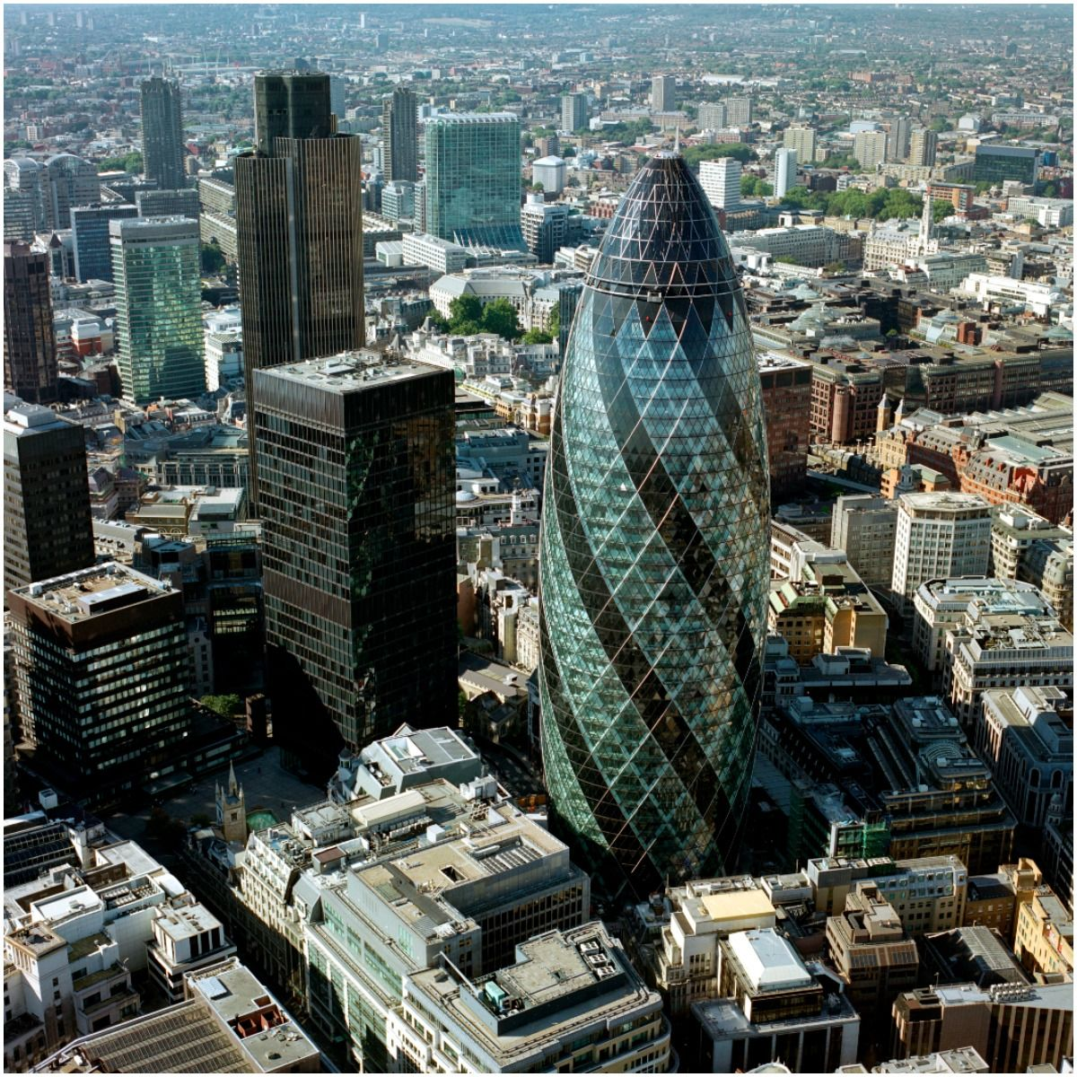 The Gherkin, designed by Norman Foster