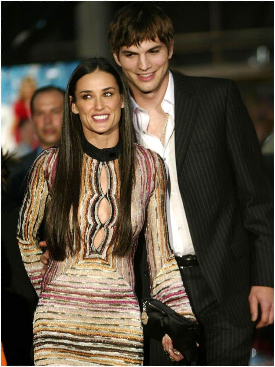 Ashton Kutcher and ex-wife Demi Moore