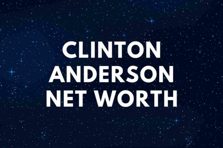 Clinton Anderson net worth